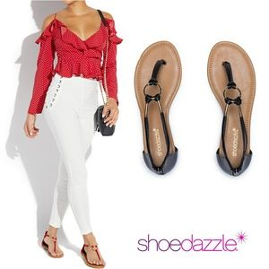 [Size: 11] Shoe Dazzle - Marni Flat Sandals